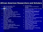 african american researchers and scholars
