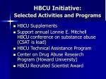 hbcu initiative selected activities and programs