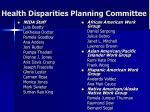 health disparities planning committee