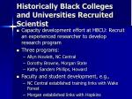 historically black colleges and universities recruited scientist