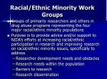 racial ethnic minority work groups