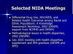 selected nida meetings