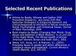 selected recent publications1