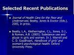 selected recent publications2