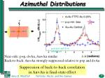 azimuthal distributions