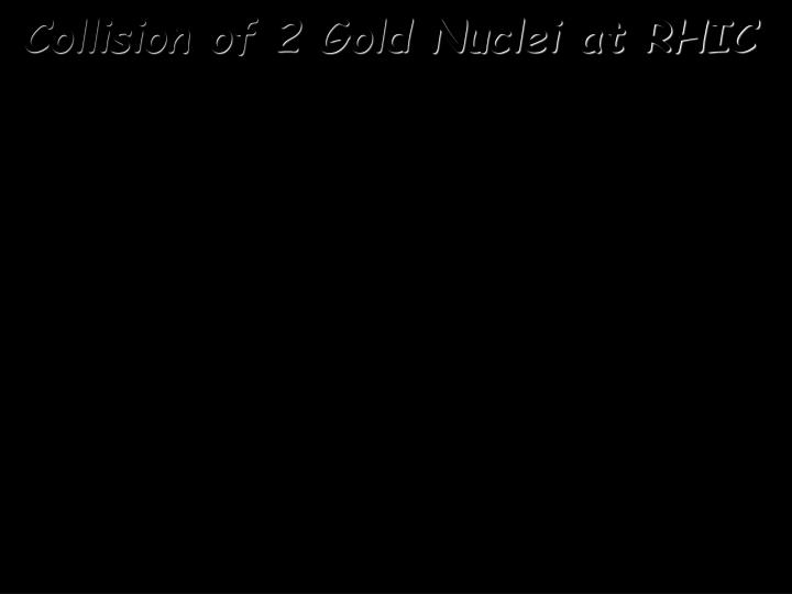 Collision of 2 Gold Nuclei at RHIC