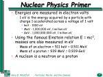 nuclear physics primer