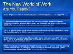 the new world of work are you ready