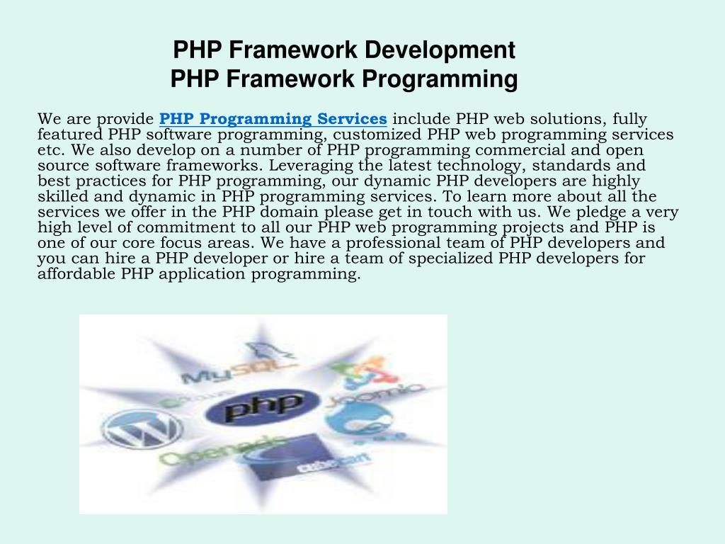 php framework development php framework programming l.