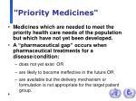 priority medicines
