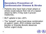 secondary prevention of cardiovascular disease stroke