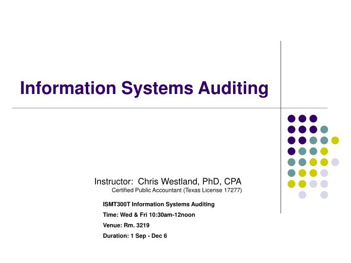 information systems auditing n.