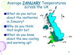 average january temperatures across the uk