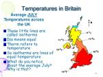 temperatures in britain