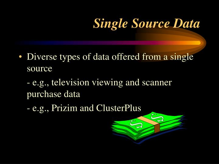 Diverse types of data offered from a single source
