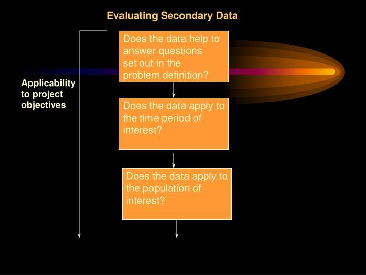 Evaluating Secondary Data