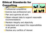 ethical standards for consulting