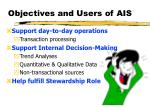 objectives and users of ais