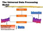 the universal data processing model