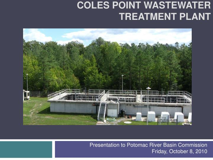 coles point wastewater treatment plant n.
