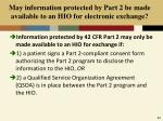 may information protected by part 2 be made available to an hio for electronic exchange