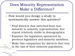 does minority representation make a difference2