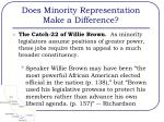 does minority representation make a difference3