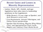 recent gains and losses in minority representation2