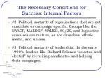 the necessary conditions for success internal factors1