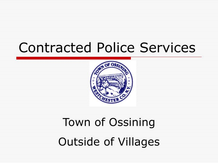 contracted police services n.