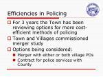 efficiencies in policing