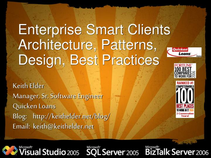 enterprise smart clients architecture patterns design best practices n.