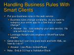 handling business rules with smart clients