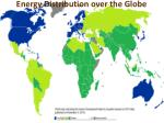 energy distribution over the globe