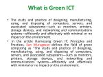 what is green ict