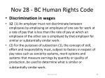 nov 28 bc human rights code