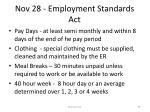 nov 28 employment standards act