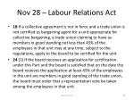nov 28 labour relations act