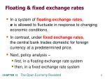 floating fixed exchange rates
