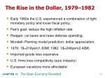 the rise in the dollar 1979 1982