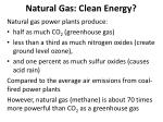 natural gas clean energy
