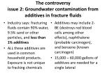 the controversy issue 2 groundwater contamination from additives in fracture fluids
