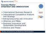 courses master strategy and innovation