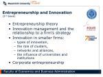 entrepreneurship and innovation 2 nd block