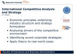 international competitive analysis and strategy 1 st block