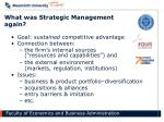 what was strategic management again