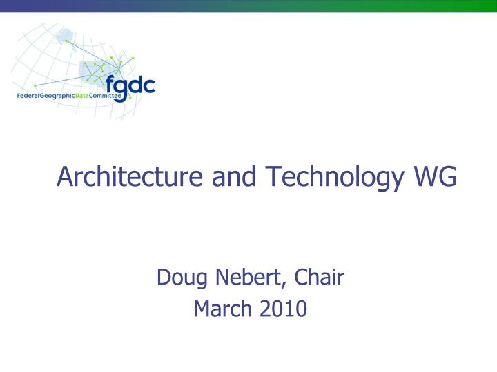 architecture and technology wg n.