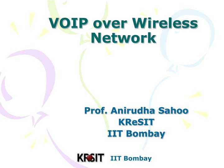 voip over wireless network n.
