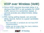 voip over wireless vow