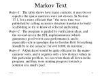 markov text